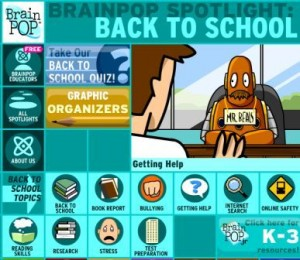 brainpop back to school