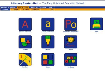 Literacy.Net Early Learning Resources