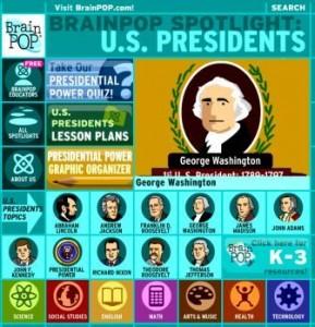 brain pop presidents